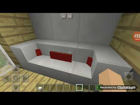 Minecraft ev tasarım yastıklı koltuk yapımı