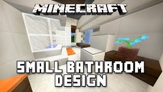 Minecraft Tutorial:  How To Build A Modern House  Ep.11   (Small Bathroom Design Ideas)