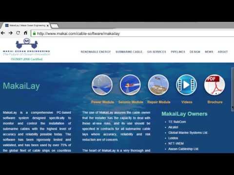 MakaiLay - At-Sea Cable Lay Management Software