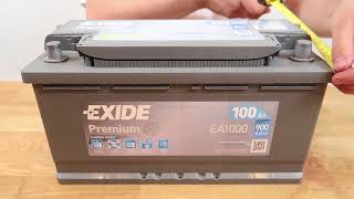 автомобильный аккумулятор EXIDE Premium EA1000: обзор аккумулятора