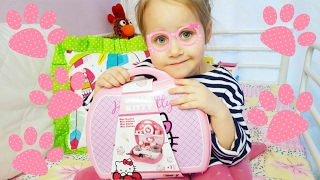 Hello Kitty Кухня в чемодане Посуда Обзор набора Хеллоу Китти Суперская Детская кухня  | Златуня