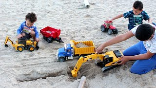 BRUDER Toys BRUDER Machines BRINCANDO com minhas Maquinas 1