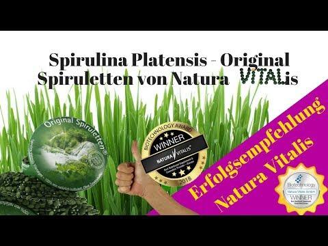 Natura Vitalis Spirulina Platensis - [Video] Original Spiruletten von Natura Vitalis