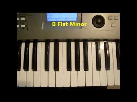 How To Play B Flat Minor Chord (Bbm, Bb min) On Piano And Keyboard ...