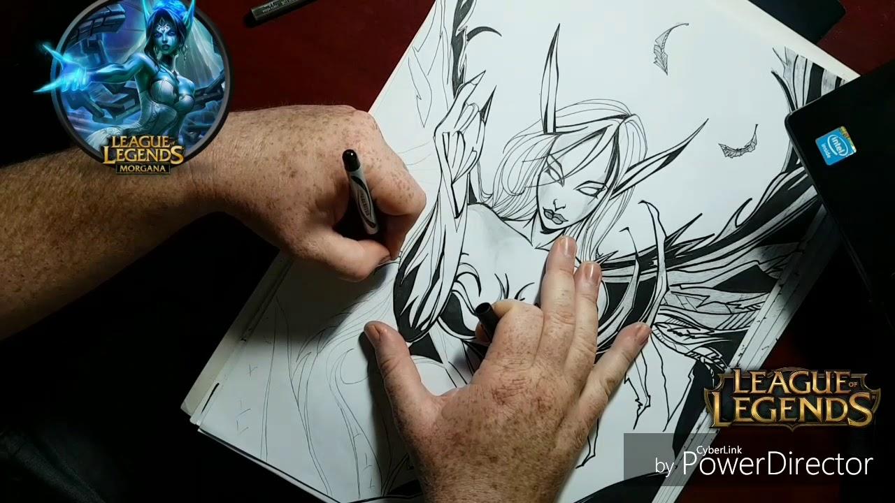 Desenhando Morgana Do League Of Legends Youtube