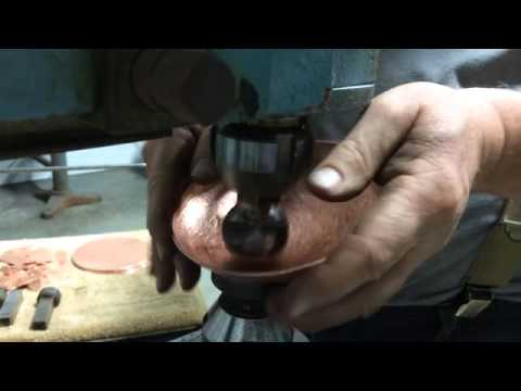 Shaping a copper bowl
