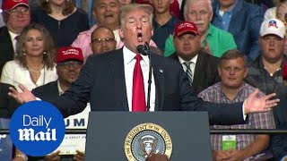 Trump touts his popularity with Republicans at Florida rally
