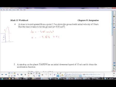 U9L2 Differential Equations with Initial Conditions: Anti derivatives, Integrals: Calculus