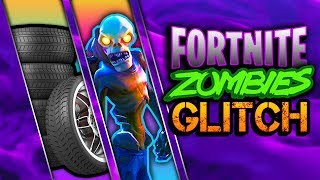 MASSIVE Floating TIRE TRAP Invincible Ceiling GLITCH - Fortnite Zombies - Save The World