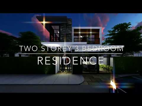 House design Philippines: 2 storey 3 bedroom residences