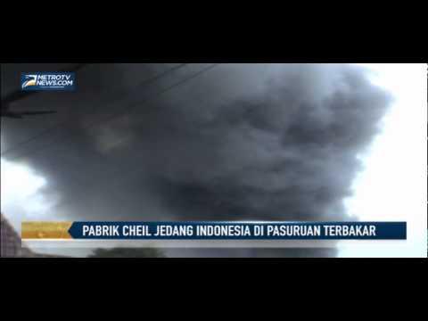 Pabrik Cheil Jedang Indonesia di Pasuruan Terbakar