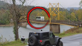 Arkansas Bridge Bends Under the Weight of Bus Crossing Over It