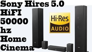 Sony's marketing trick: Sony HIFI 5.0 Hires SS-CS310CR floor home cinema speaker system 50000hz.