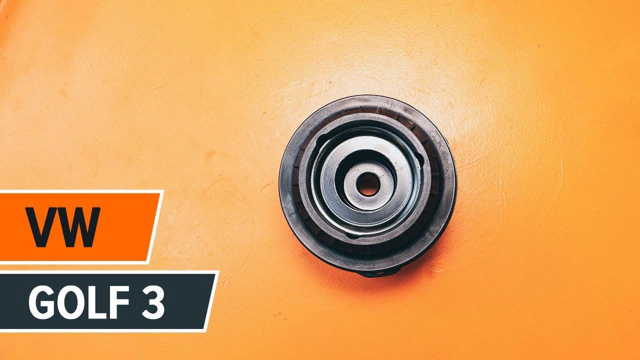 Cómo cambiar copelas del amortiguador en VW GOLF 3
