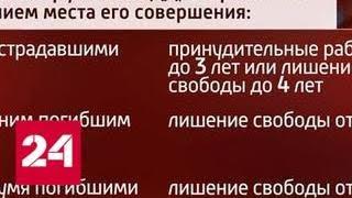 За побег с места ДТП грозит до 9 лет колонии - Россия 24