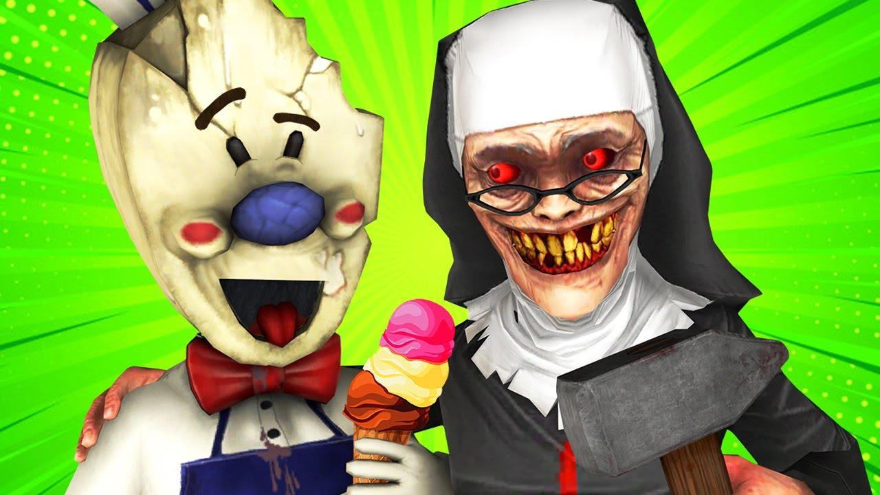Ice Scream Man vs Evil Nun (Rod's Mom Secret Ending Parody Mobile Horror Game 3D Animation)