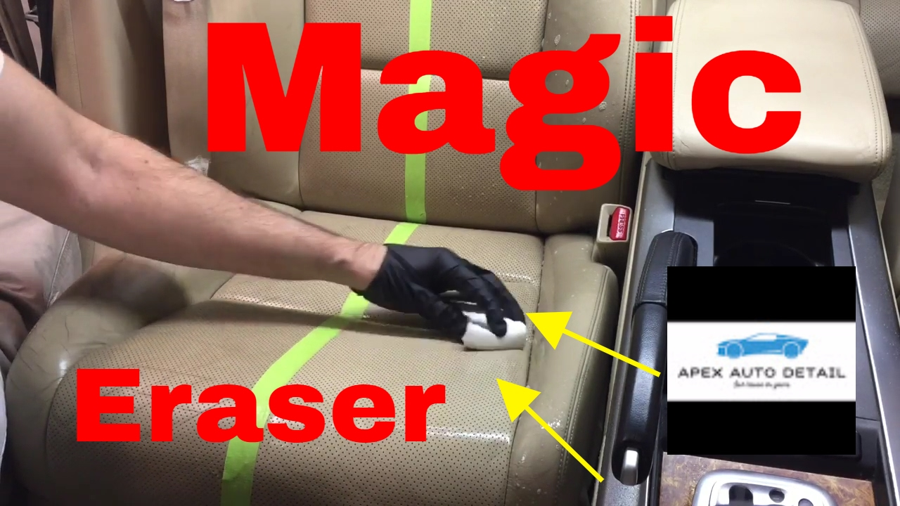magic eraser and how to clean leather seats youtube. Black Bedroom Furniture Sets. Home Design Ideas