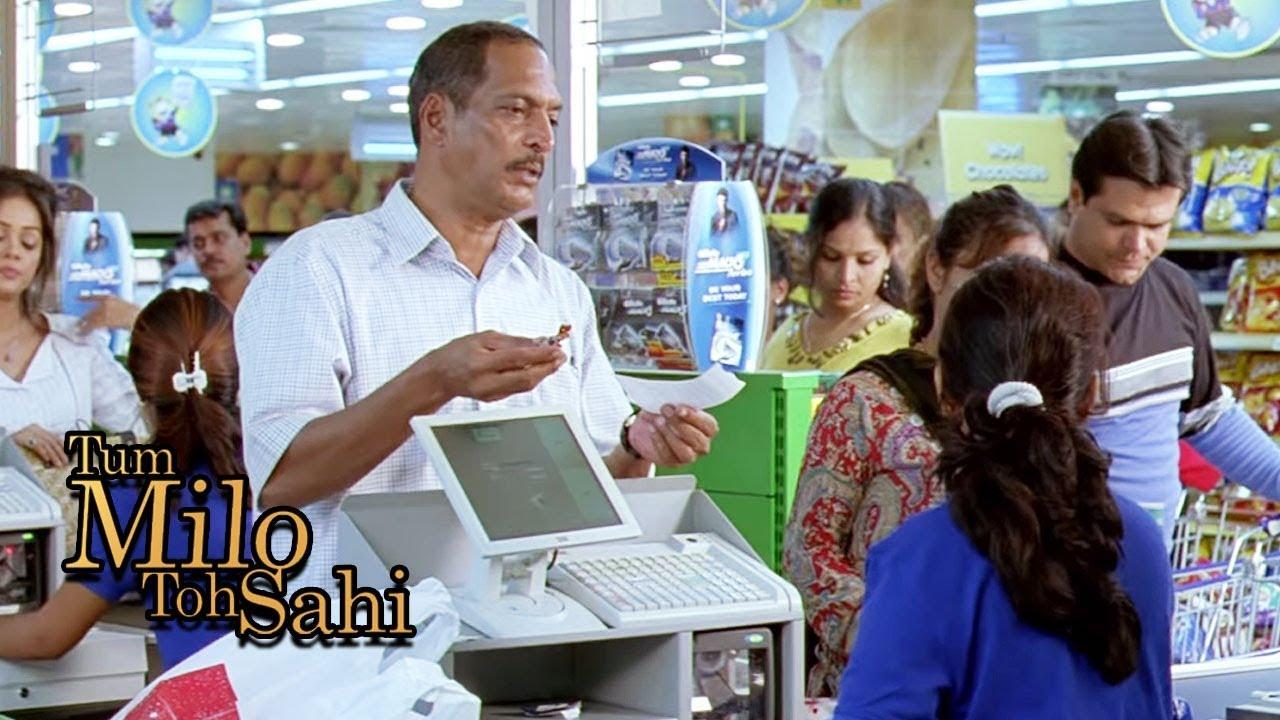 Nana Patekar's Thug Life in Department Store - Bollywood Comedy Scene | Tum Milo Toh Sahi