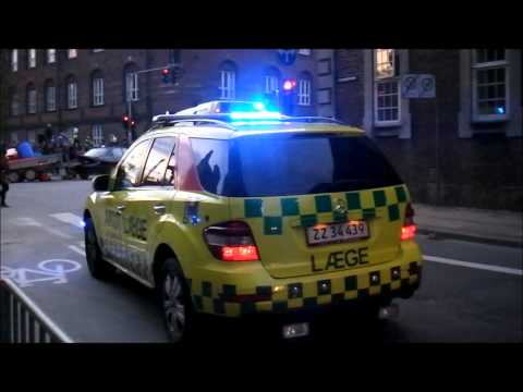 112 Night - Mercedes ML320 Emergency Doctor Car - Copenhagen Fire Brigade - Lights Demo