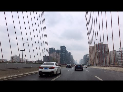 Driving to Downtown, Light Rain | the Center of Chengdu, Bustling and Busy | Driving Noise | ASMR