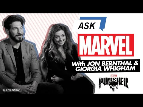 The Punisher's Jon Bernthal & Giorgia Whigham  | Ask Marvel