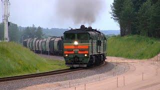 2ТЭ10УК-0082 з вантажним поїздом / 2TE10UK-0082 with a freight train