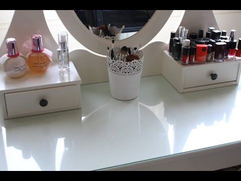 Make Up Tafel : Een kijkje in mijn make up tafel youtube
