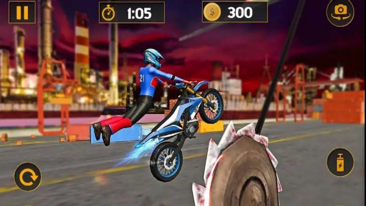 Tricky Bike Stunt Mania Game Dirt Motorcycle Race Bike