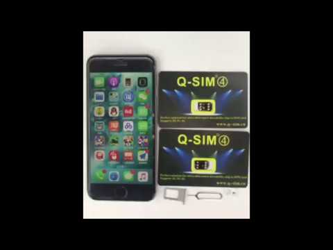 How to use Q-SIM4 ICCID to unlock iPhone auto 4G LTE - latest 20171212