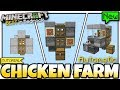 Minecraft Bedrock - CHICKEN FARM ( Automatic ) [ Redstone Tutorial ] MCPE / Xbox / Switch