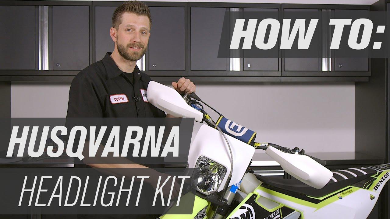 how to install a husqvarna dirt bike headlight kit [ 1280 x 720 Pixel ]