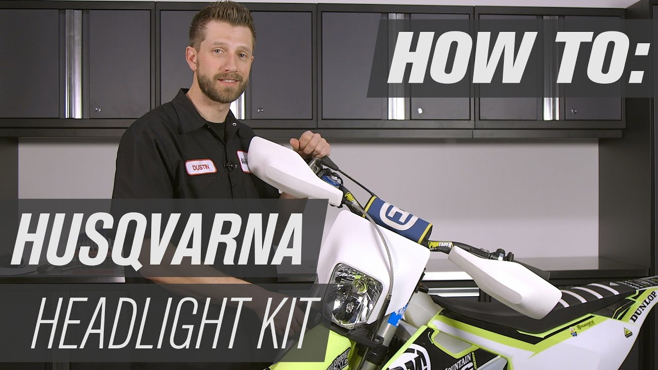 hight resolution of how to install a husqvarna dirt bike headlight kit