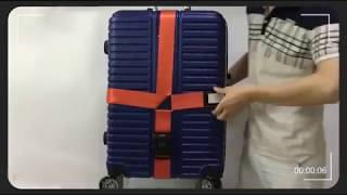 How to Use for Cross Luggage Strap?