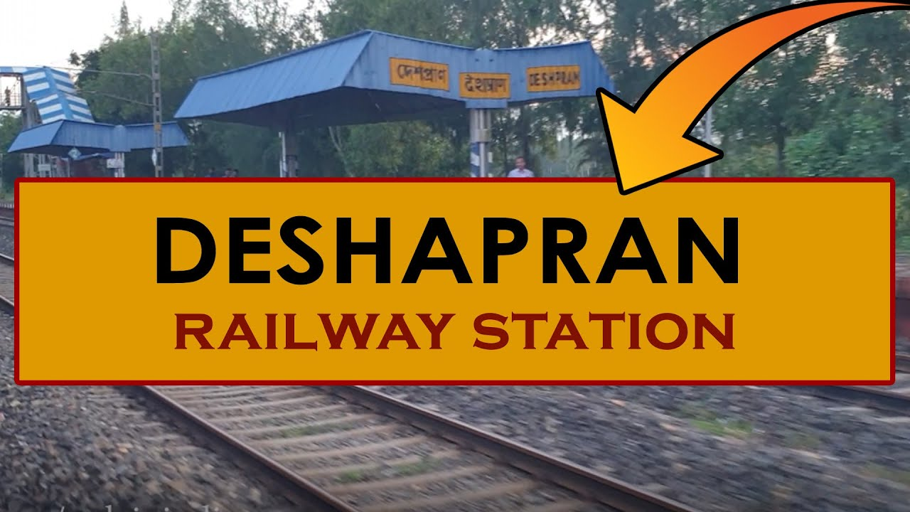 DSPN, Deshapran railway station, India in 4k ultra HD