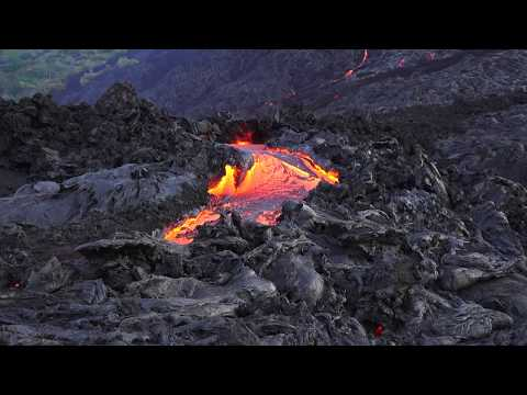 Drone Footage Shows the Lava Flow at the Kilauea Volcano, Hawaii