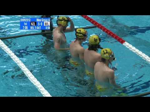 Underwater Hockey Worlds Eger 2013 men elite: Belgium - New Zealand