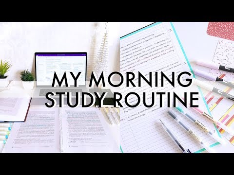 My Morning Study Routine  Finals Week + Christmas Edition