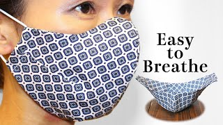 Breathable 5 Dart Face Mask Sewing Tutorial PDF Printable Pattern Mask DIY How to Make Fabric Mask