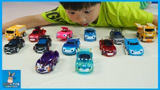 파워배틀 와치카 신제품 총집합! 가우스 프론 대결 승자는? ♡ 신기한 변신 자동차 장난감 놀이 Car Transformer Toys | 말이야와친구들 MariAndFriends
