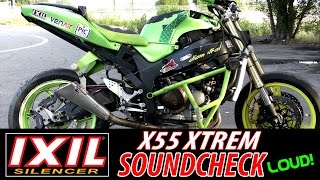 STUNT BIKE KAWASAKI 636 Burnout & Jump  - Exhaust SOUND TEST!