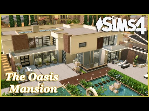 The Sims 4 - The Oasis Mansion! (House Build)