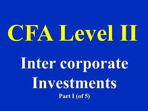 CFA Level II : Inter corporate Investments Part I (of 5)