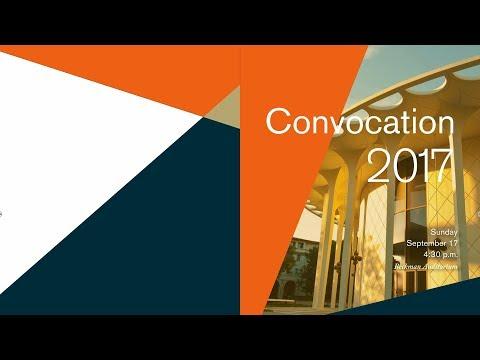 Caltech Convocation 2017 - 9/17/17