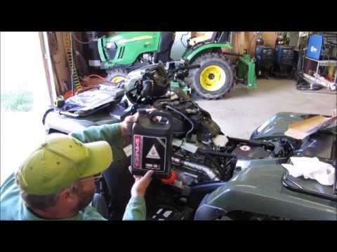 2014 Honda Foreman TRX 500 FM1 4x4 Oil Change At 20 hr Break In Period with KVUSMC
