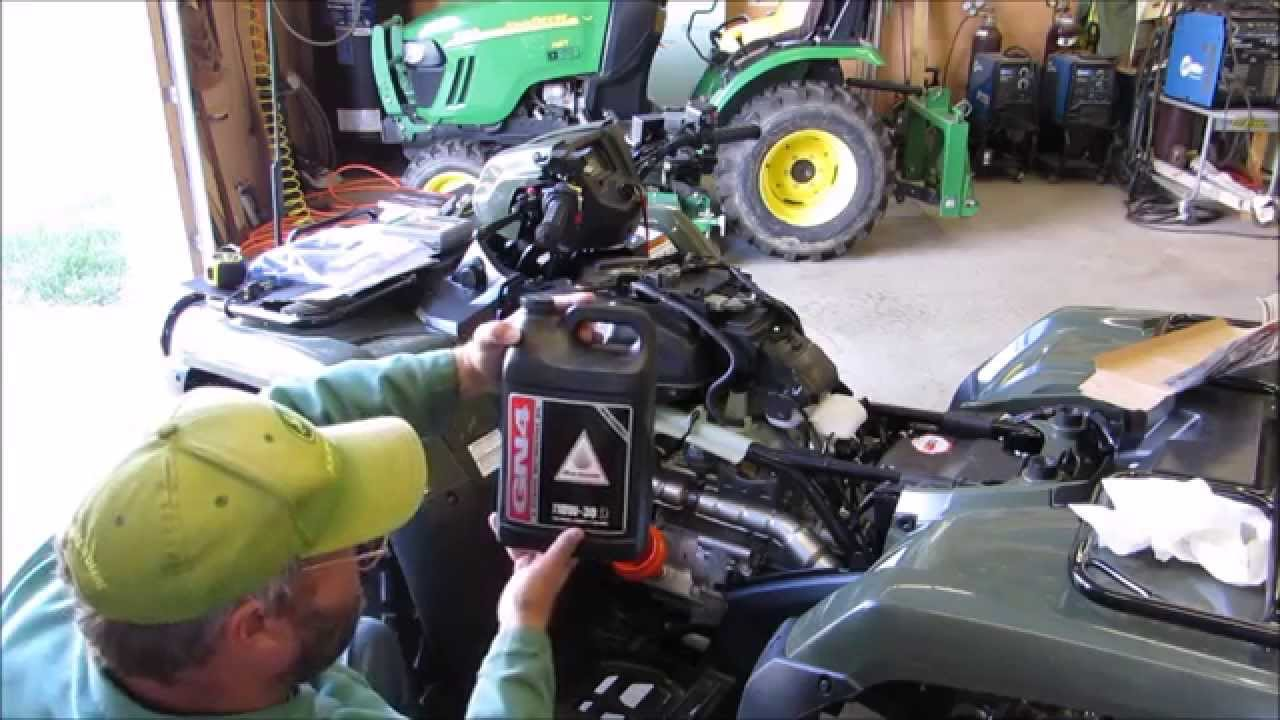 2014 honda foreman trx 500 fm1 4x4 oil change at 20 hr