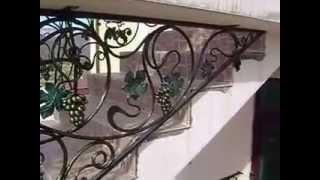 кованые перила чп кузнец(http://www.kovka-krym.com/2014/06/lestnici-perila.html перила стилизованые под лозу,с виноградными листьями и гроздями винограда,а..., 2015-03-23T05:03:03.000Z)