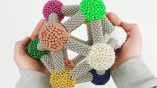 Molecular Icosahedron made of Magnetic Balls | Magnetic Games