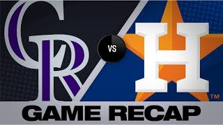 Homers drive Astros in 11-6 victory | Rockies-Astros Game Highlights 8/6/19