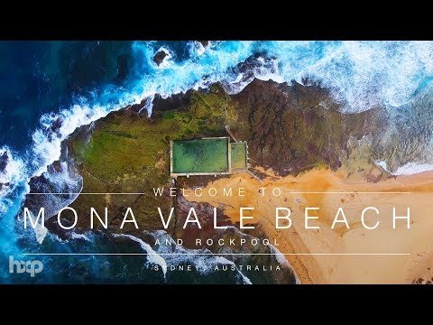 Australia - Mona Vale Beach & Rockpool By Drone 4K