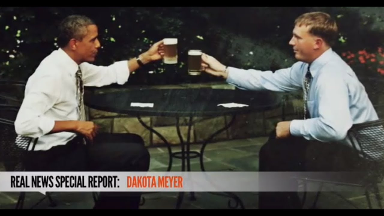 dakota meyers beer with obama quotreal newsquot youtube